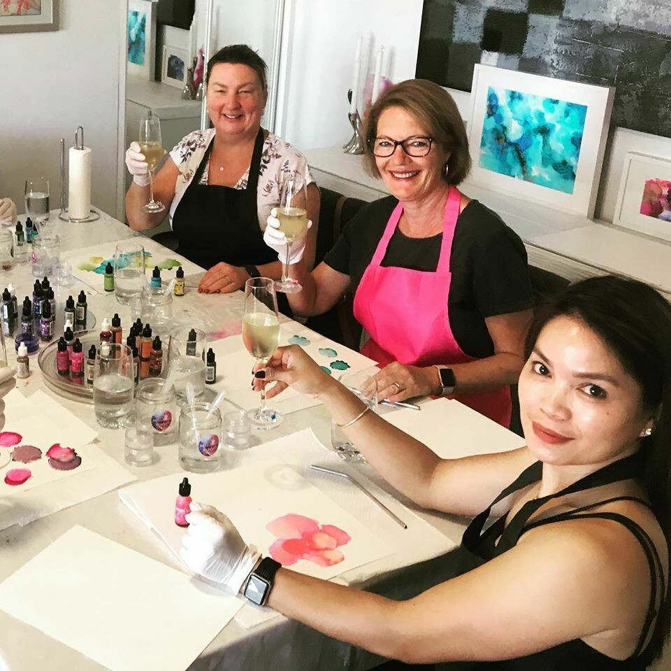 NEW SESSION RELEASED!!!! Alcohol Ink Art Workshop - Saturday  December 7 2019 (10am to 1pm)
