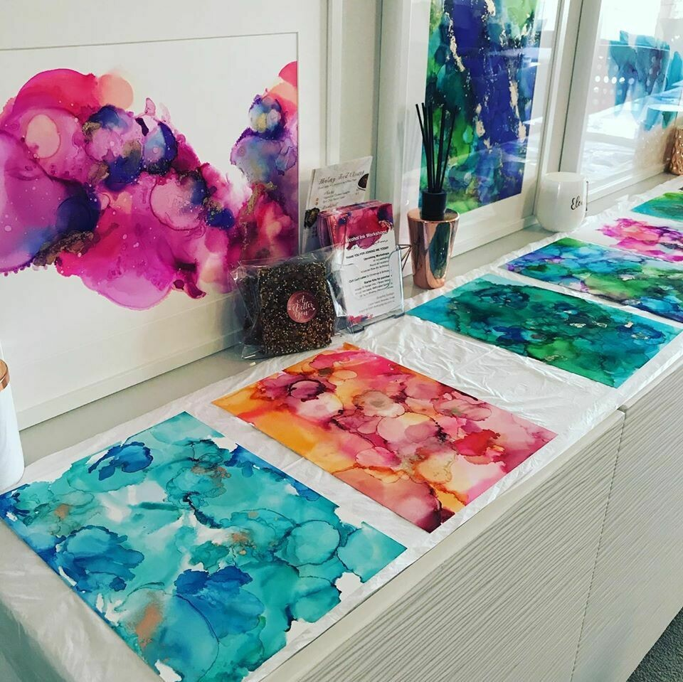 2) Alcohol Ink Art Workshop - Monday 3 December 2019 (11am to 2pm)