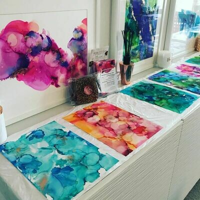 Alcohol Ink Art Workshop - Monday 2nd December 2019 (11am to 2pm)
