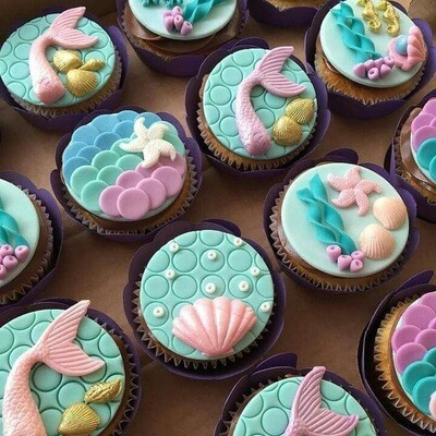Mermaid & Sea Creature Cupcake School Holiday Workshop - Wednesday 15th January 2020 (1pm to 4pm)