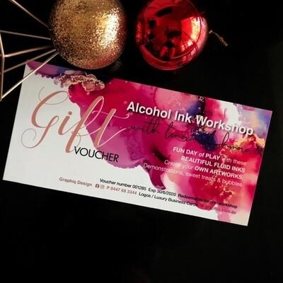 Alcohol Ink Art Workshop - GIFT VOUCHER