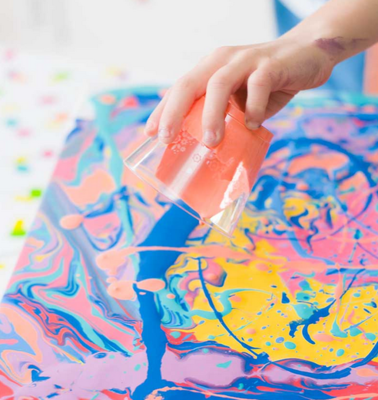 Kids Paint Pouring Workshop - Tuesday 14th January 2020 (10am to 12pm)