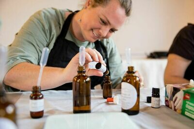 Essential Oil Blending & Natural Skincare Workshop COMBINED MASTERCLASS - Saturday 15th February (10.30am to 4.30pm) (MORNING & AFTERNOON SESSION COMBINED)