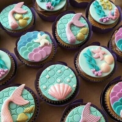 Mermaid & Sea Creature Cupcakes - School Holiday Workshop - Kids - Monday 20 April 2020 - 1pm - 2pm