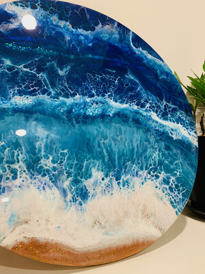 Seascape Resin Art Workshop for Beginners - Saturday 28 March 2020 - 1pm to 5pm