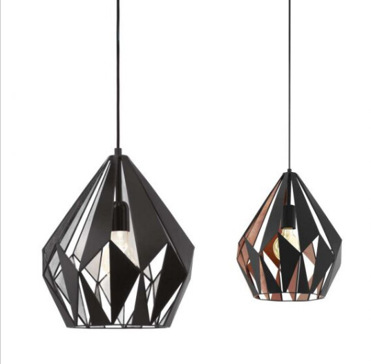 Carlton 1 light Pendant Black and Copper