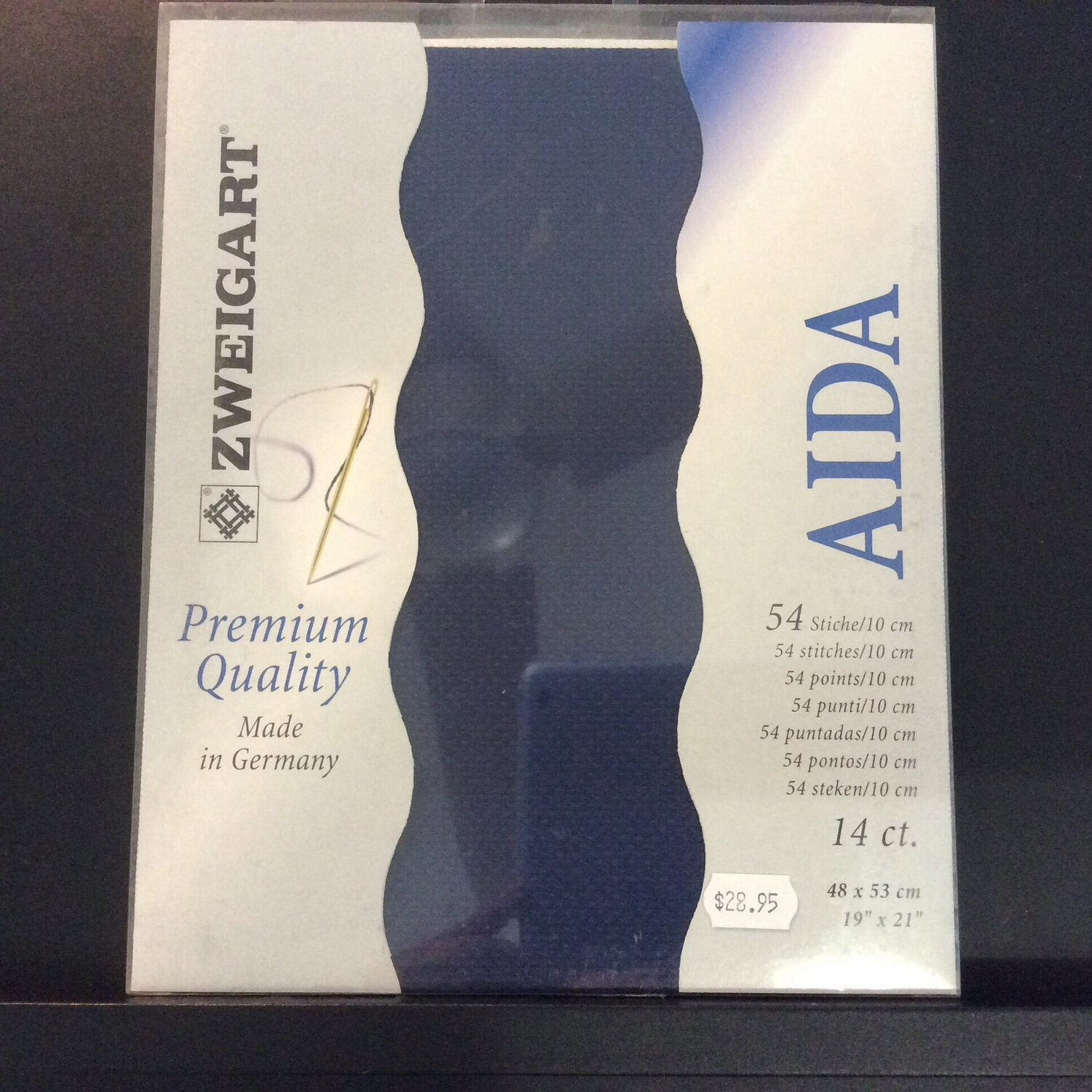 Aida 14ct Fat Qtr Navy