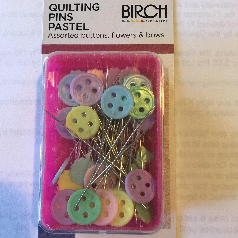 Birch Quilting Pastel Pins 50pc