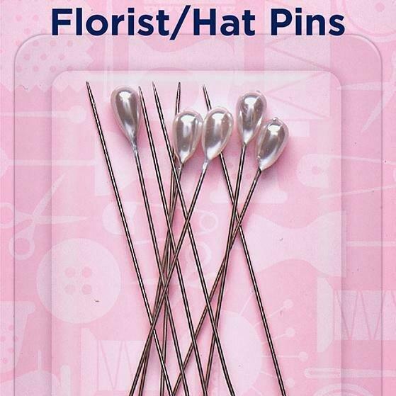 Hemline Florist/Hat Pins 65mm (711)
