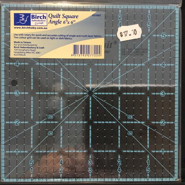 "Birch Quilt Angle 6""sq"