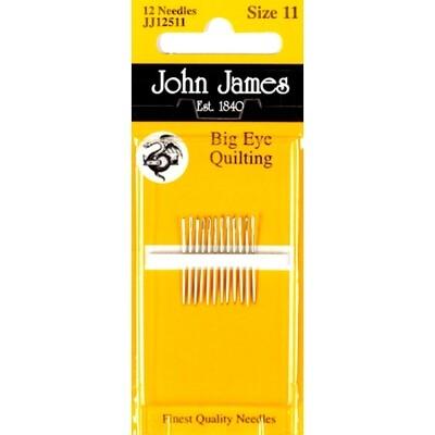 John James Quilting #11 Big Eye pkt