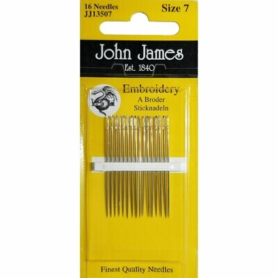 John James Embroidery #07 pkt