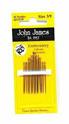 John James Embroidery #05/10 pkt