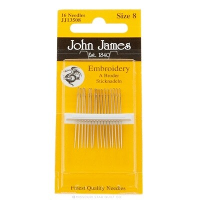 John James Embroidery #08 pkt