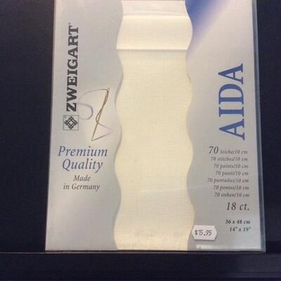 Aida 18ct PreCut Antique White