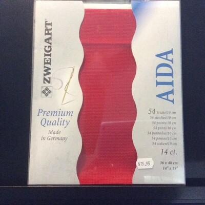 Aida 14ct PreCut Red