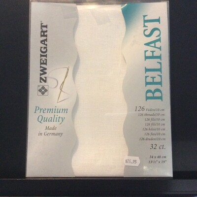 Belfast Linen 32ct PreCut White (PC3609.100)