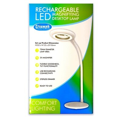 Triumph LED Desktop Rechargable White - OD200