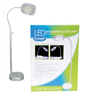 Triumph LED Floor Magnifying Lamp White (OD109)