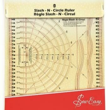 Sew Easy Slash-n-Circle Ruler (NL4195)