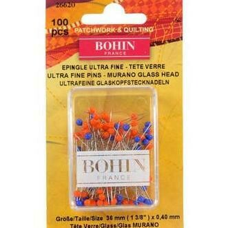Bohin Glass Head Ultra Fine Pins 100pc (26620)