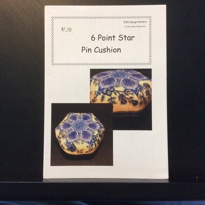 6 Point Star Pin Cushion Pattern v1 by ESN