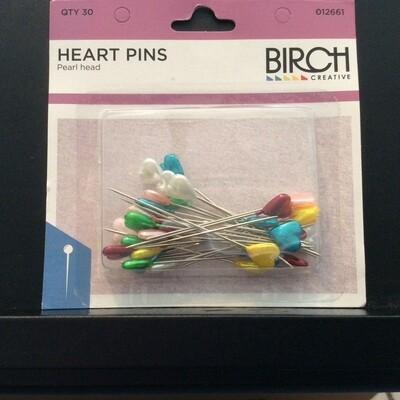 Birch Heart Heads Pins 012661