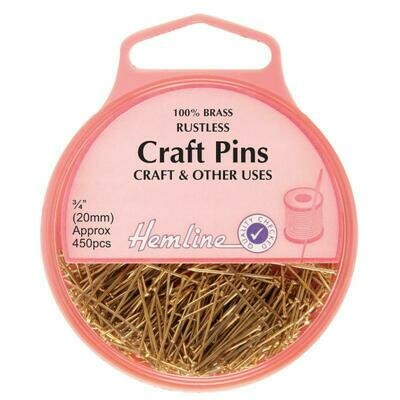 Hemline Craft Pins 450pkt  (712)