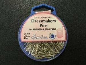 Hemline Dressmakers Pins 26mm x 0.67mm 25gm (700)