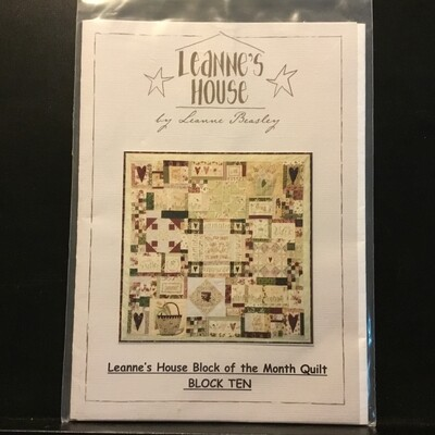 Leanne's House Block of the Month Quilt #10 (LH120)