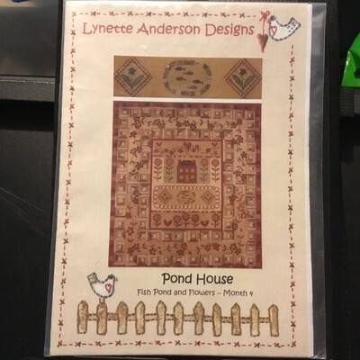 Lynette Anderson Designs - Pond House #4 Fish Pond and Flowers