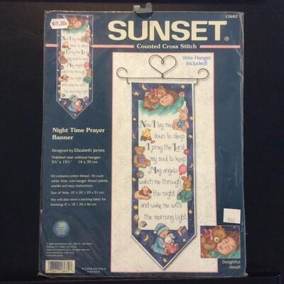 Sunset Night Time Prayer Banner