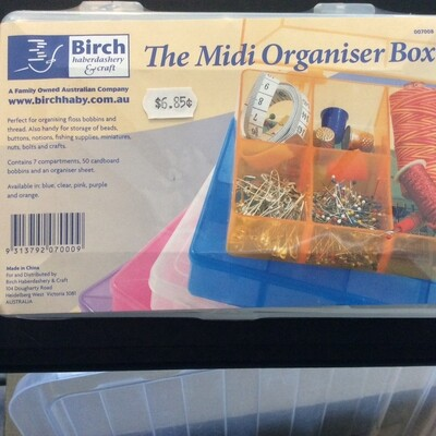 Birch Floss Organiser Box Midi with 50 bobbin cards