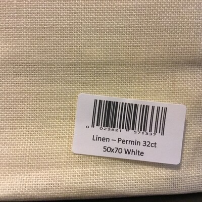 Linen 32ct Fat Qtr White (065.???)