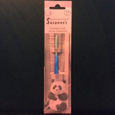 Susanne Crochet Hook Gold Tip 1.25mm