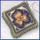 Mill Hill Beads Pin Pillow - Pansy Petals (MHBPP3)