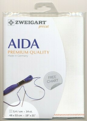 Aida 14ct Fat Qtr White (FQ3706.100)