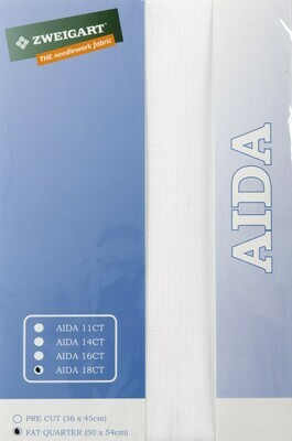 Aida 18ct Fat Qtr Antique White (FQ3793.101)
