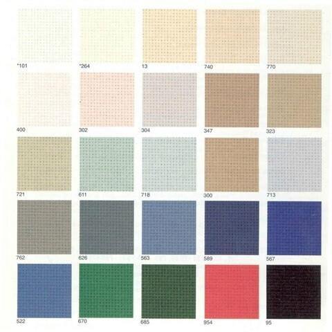 Dublin Linen 25ct w.140cm White (3604.100) /10cm increments