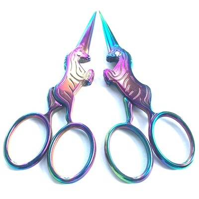 Embroidery Scissors 100mm Rainbow Unicorn (B4717)