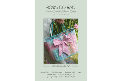 Aunties Two Bow n Go Bag Pattern