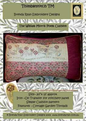 Thimblestitch The William Morris Poem Cushion Pattern
