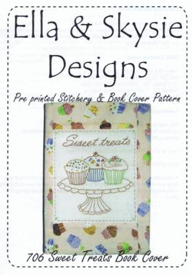 Ella & Skysie Designs Sweet Treats Book Cover (706)