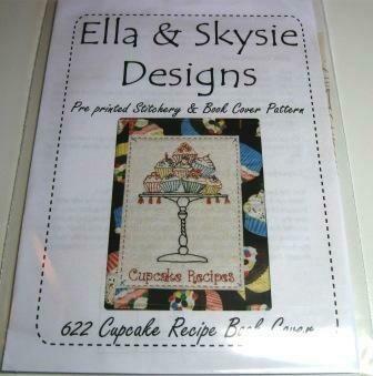 Ella & Skysie Designs Cupcake Recipe Book Cover (622)