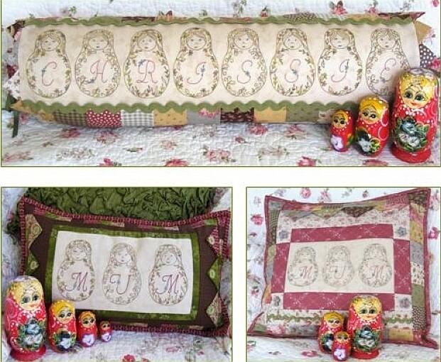 Petals & Patches - Matryoshka Maidens Cushion Set
