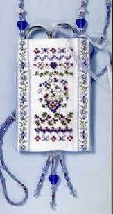 Mill Hill Scissor Pocket - Blue Hyacinth Sampler (HMSP1)
