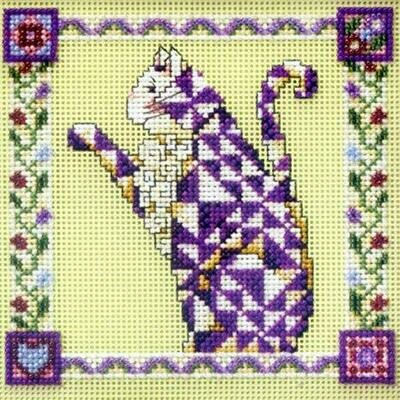 Mill Hill Quilted Cats - Petunia (JS14-8403)