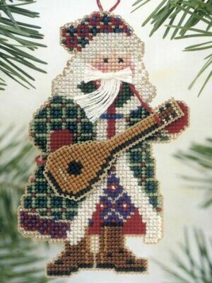 Mill Hill Musical Santas - Mandolin Santa (MHMS10)