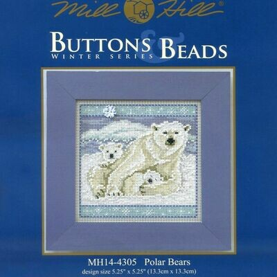 Mill Hill Buttons & Beads Winter Series - Polar Bears (MH14-4305)