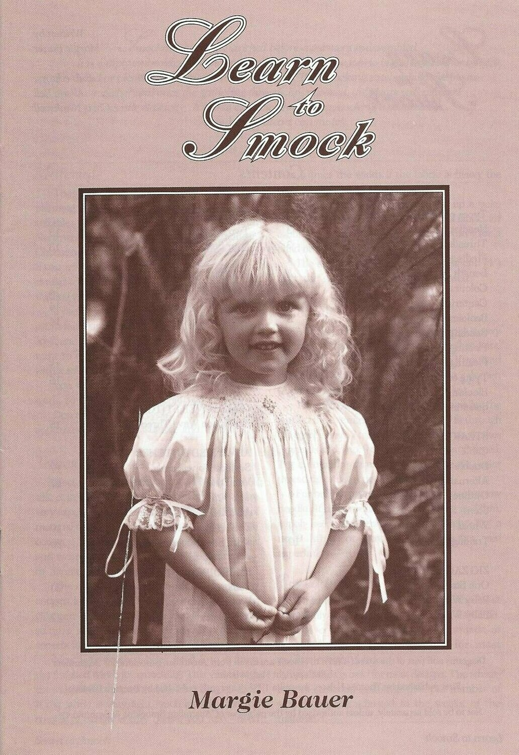 Learn To Smock Booklet by Margie Bauer